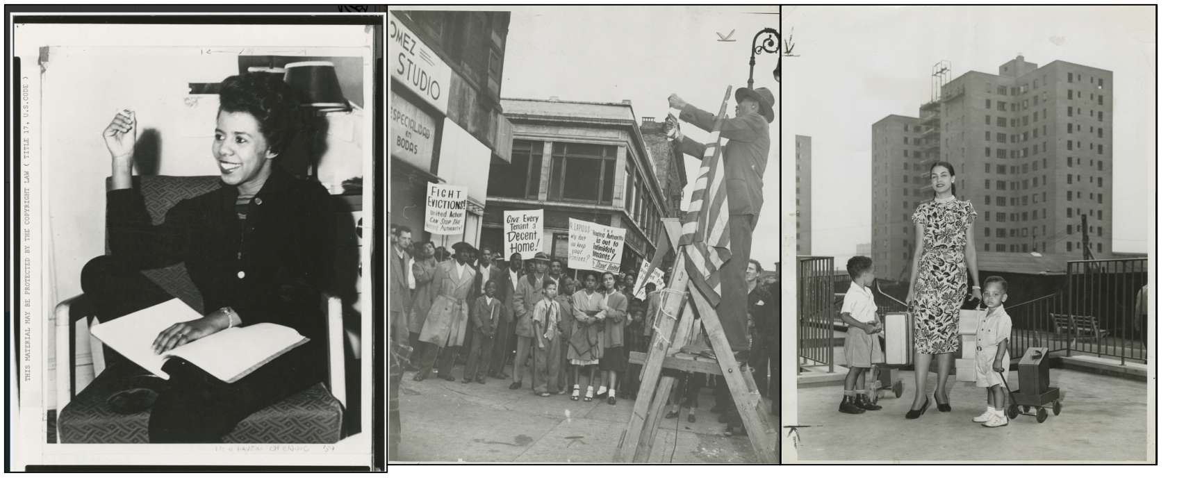 three black and white photos from the Schomburg Center for Research in Black Culture, The New York Public Library