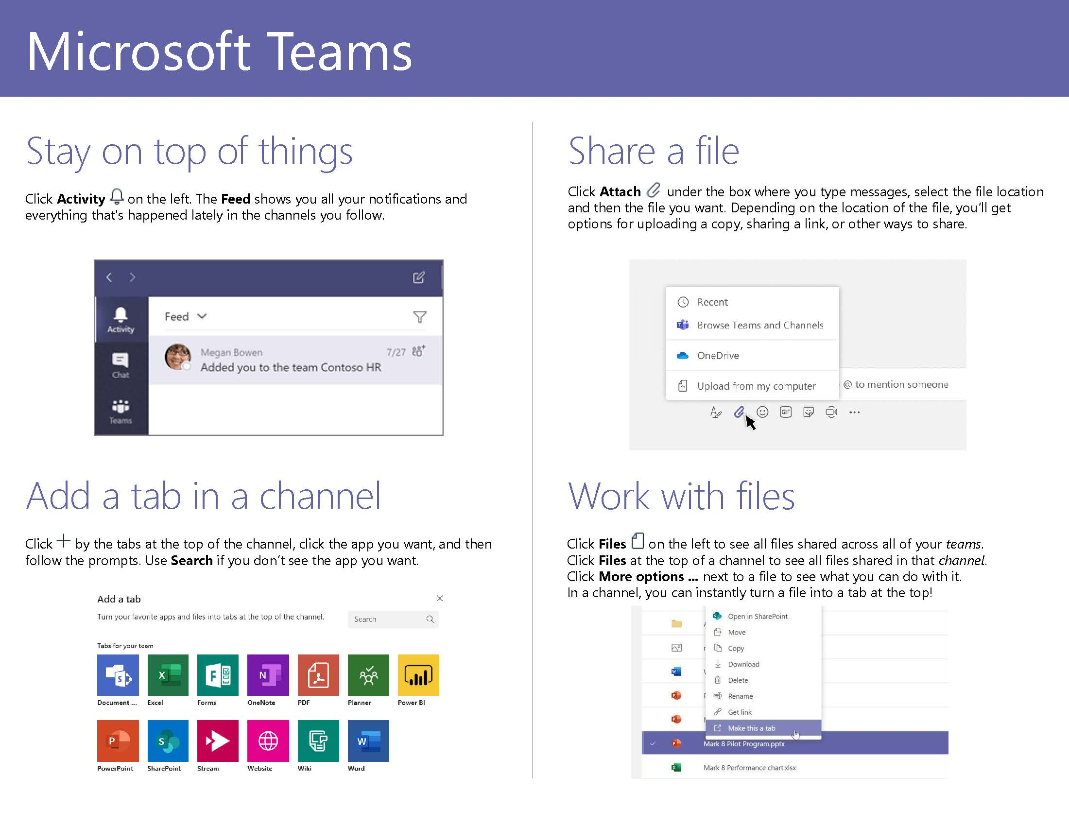 Microsoft Teams Quick Start Guide Page 4