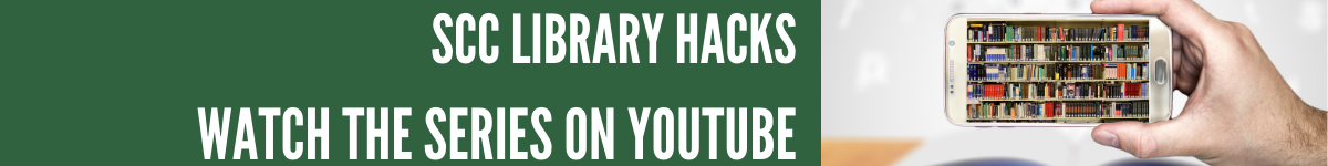 Hack the SCC Library You Tube video series promotion