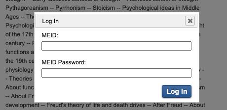 MEID and password login