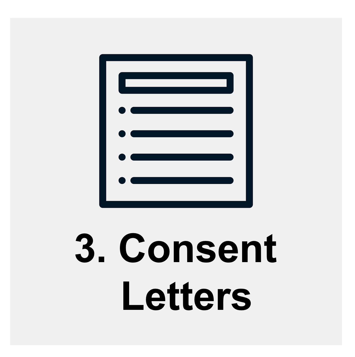 Session #3: Consent letter. Links to schedule for group sessions on consent letters