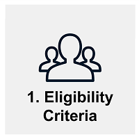 Session #1: Eligibility criteria. Links to schedule for group sessions on eligibility criteria
