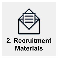 Session #2: Recruitment materials. Links to schedule for group sessions on recruitment materials