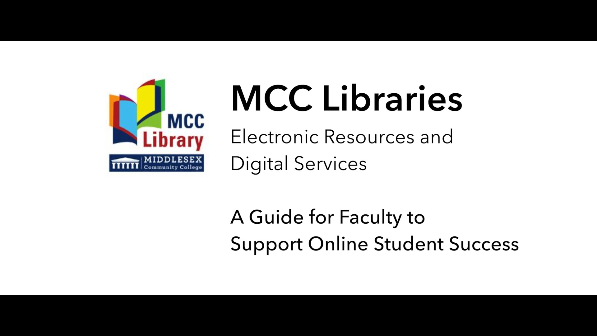 Video Button for: MCC Library eResources and Digital Services - Faculty - COVID-19 Response