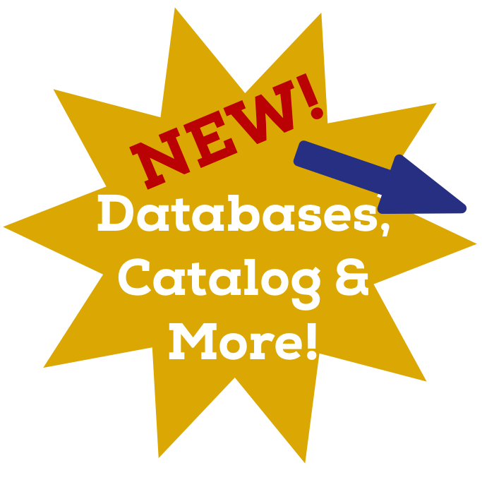 """Star Icon - """"New! Databases, Catalog & More!"""" with arrow pointing to next button.PNG"""