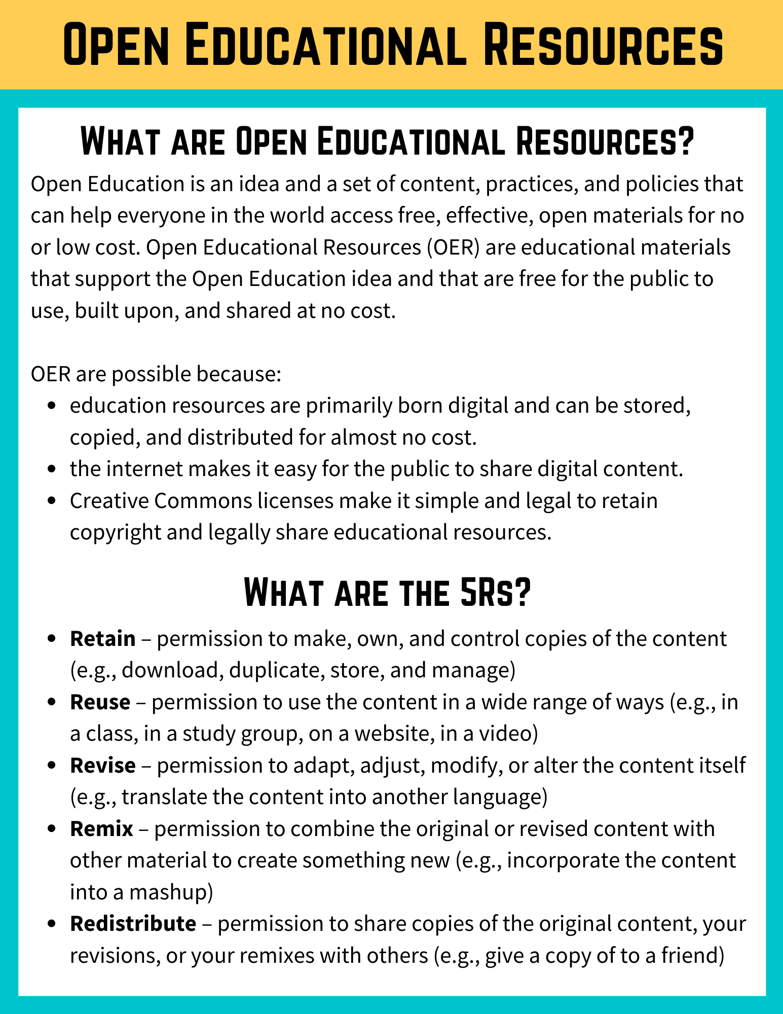 Open Access and OER page 6