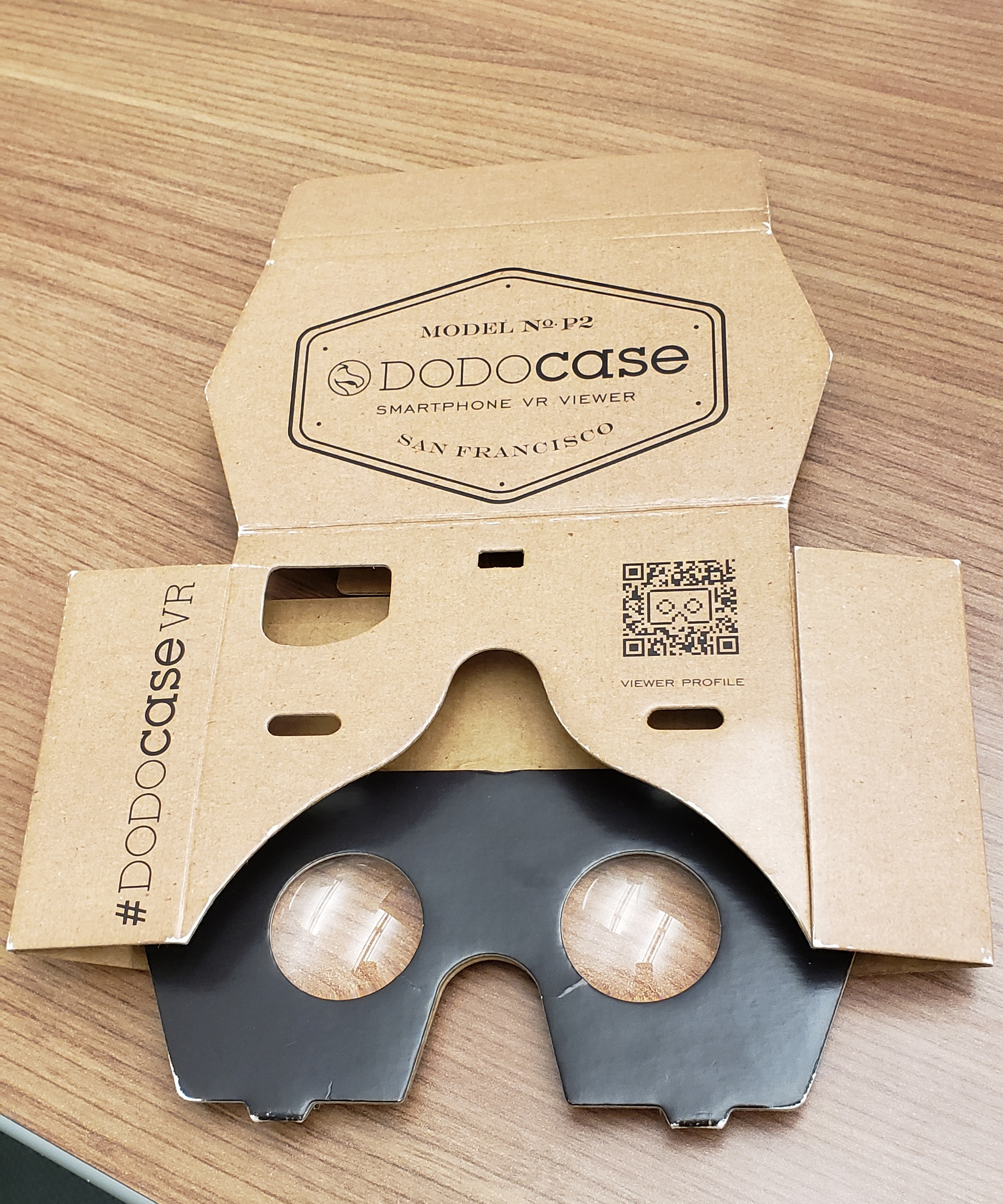 Back side of the google cardboard device