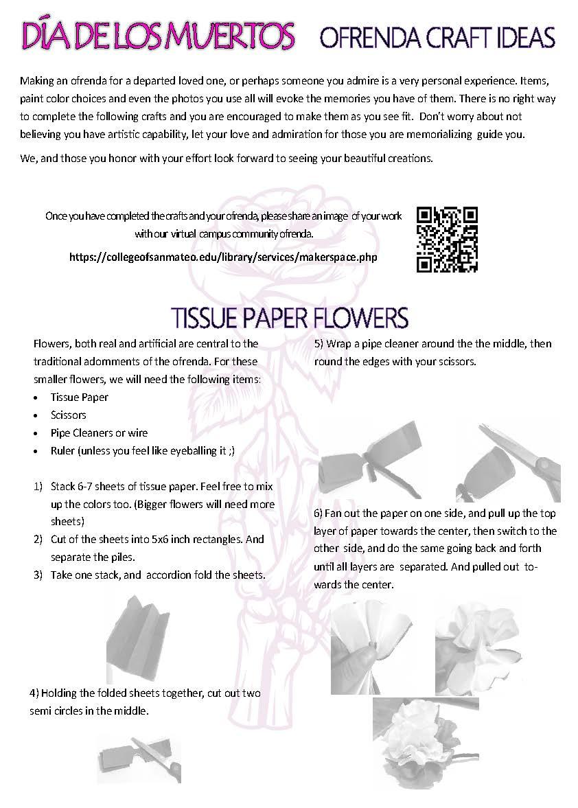 Craft Ideas - Tissue Paper Flowers