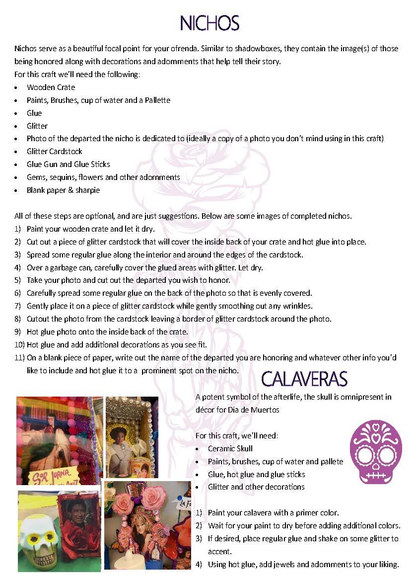 Craft Ideas - Nichos & Calaveras