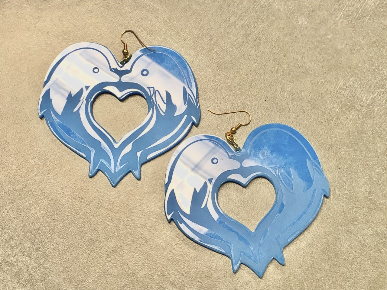 Blue Dolphin Earrings