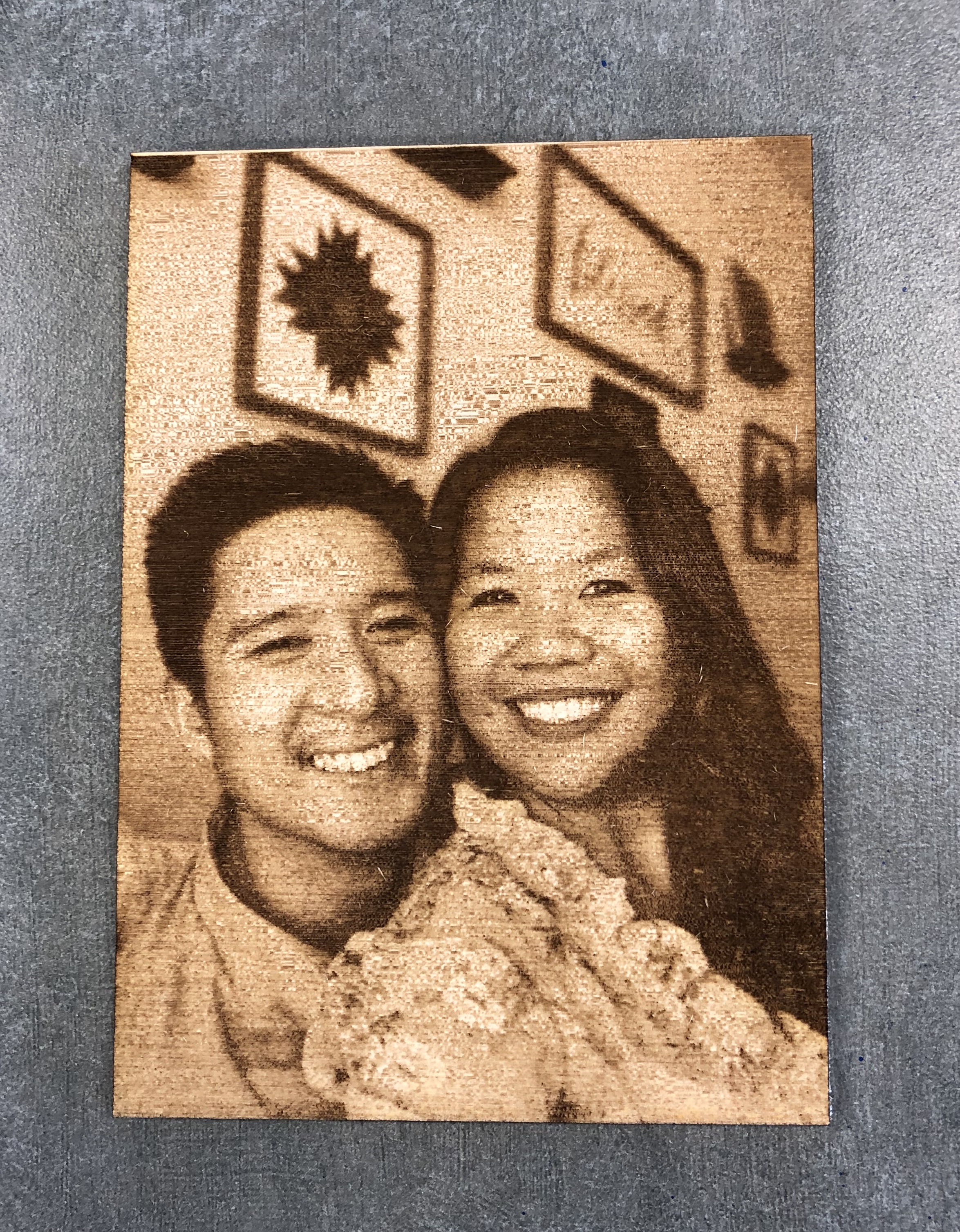 Engraved Photo on Wood