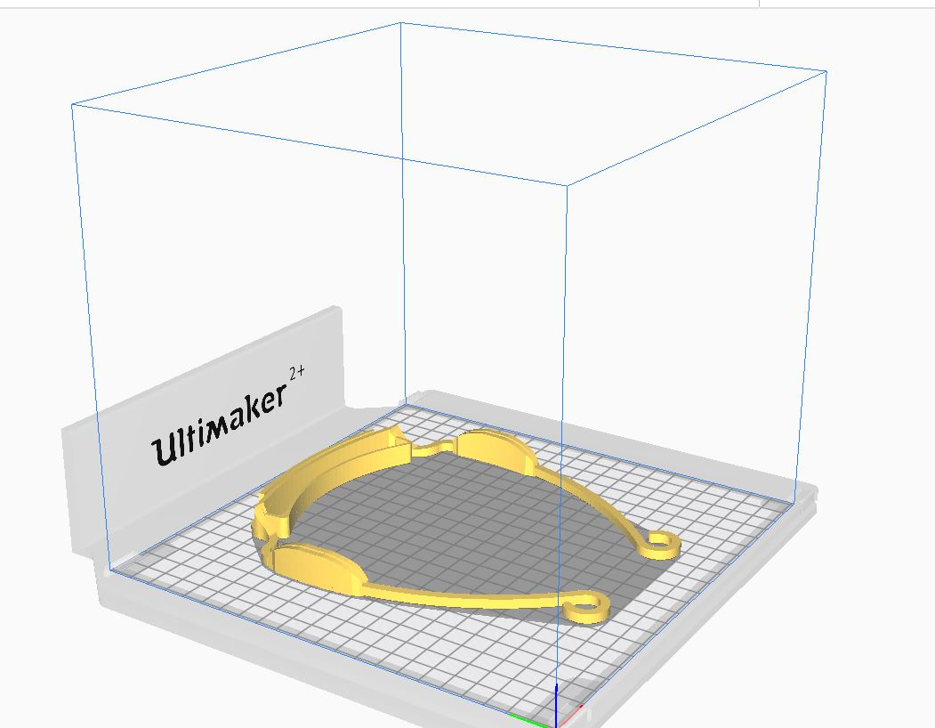 Preview - 3D Face Shield Frame on Cura