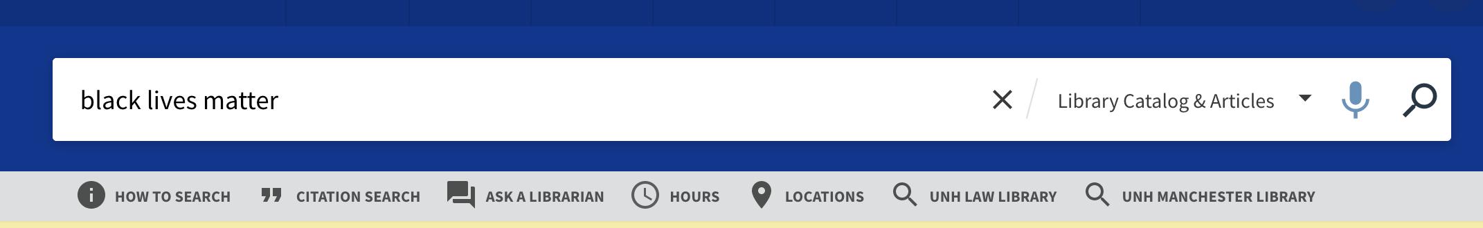Search Box Sub Menu