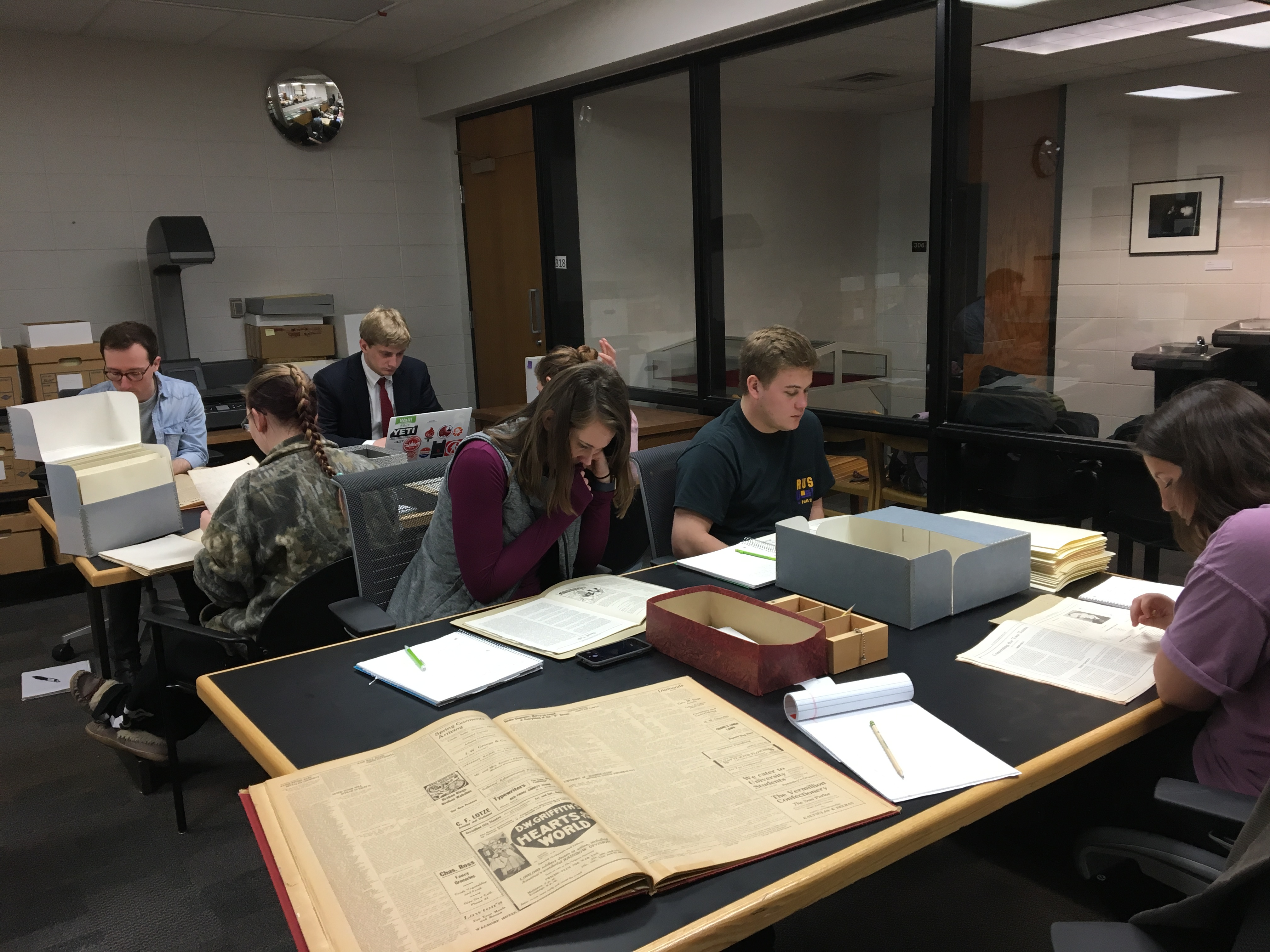 Class in archives