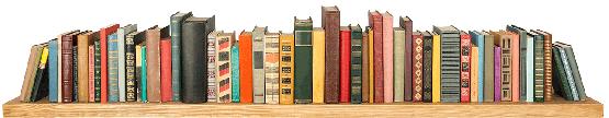 Shelf with books