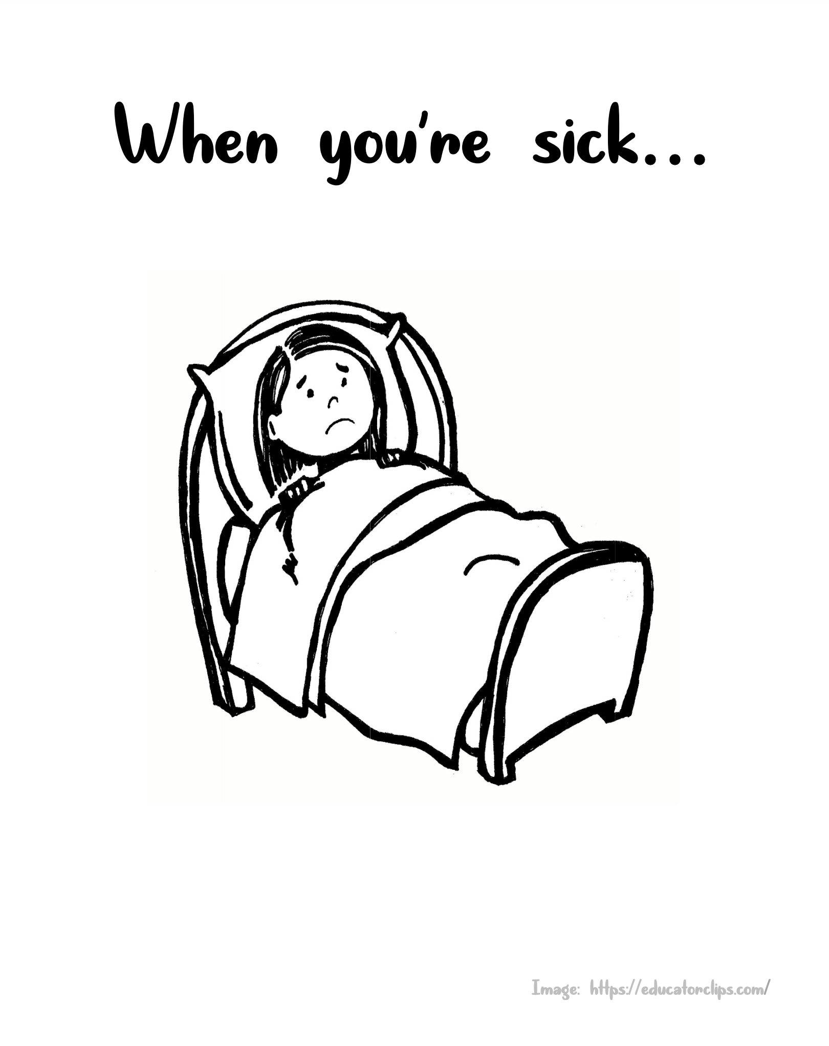 When You're Sick