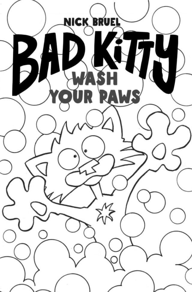 Bad Kitty: Wash Your Paws