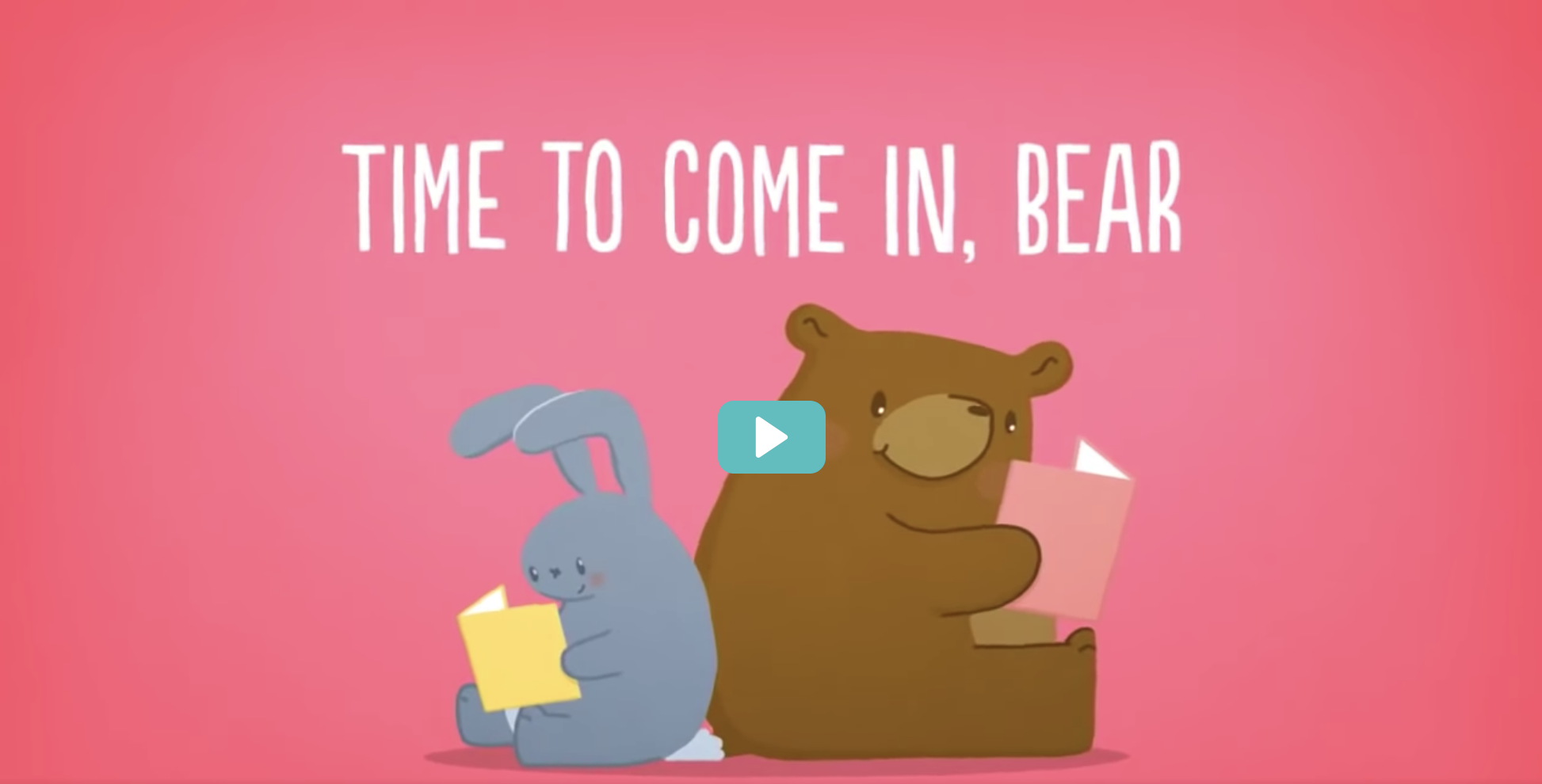 Time to Come In, Bear: A Children's Story about Social Distancing