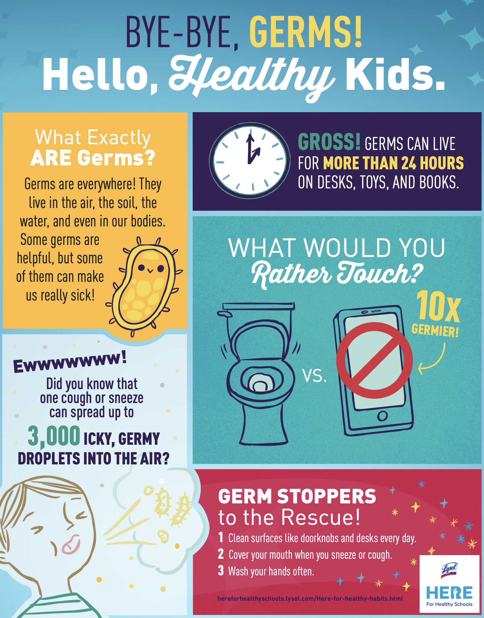 Bye-Bye, Germs! Hello, Healthy Kids