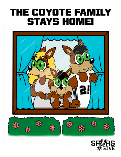 The Coyote Family Stays Home!
