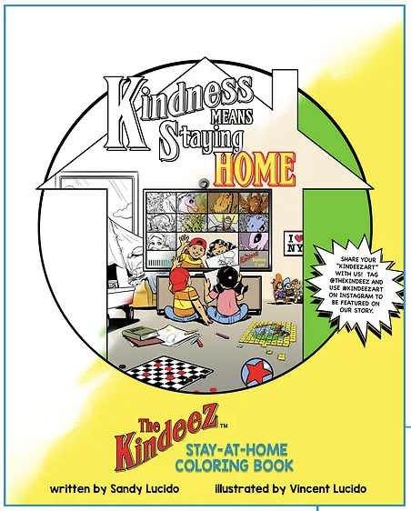 The Kindeez Stay-at-Home Coloring Book