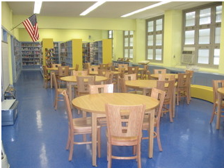 After renovation picture showing improved more accessible student seating