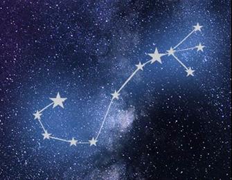 Artist's rendering of the Scorpius constellation.