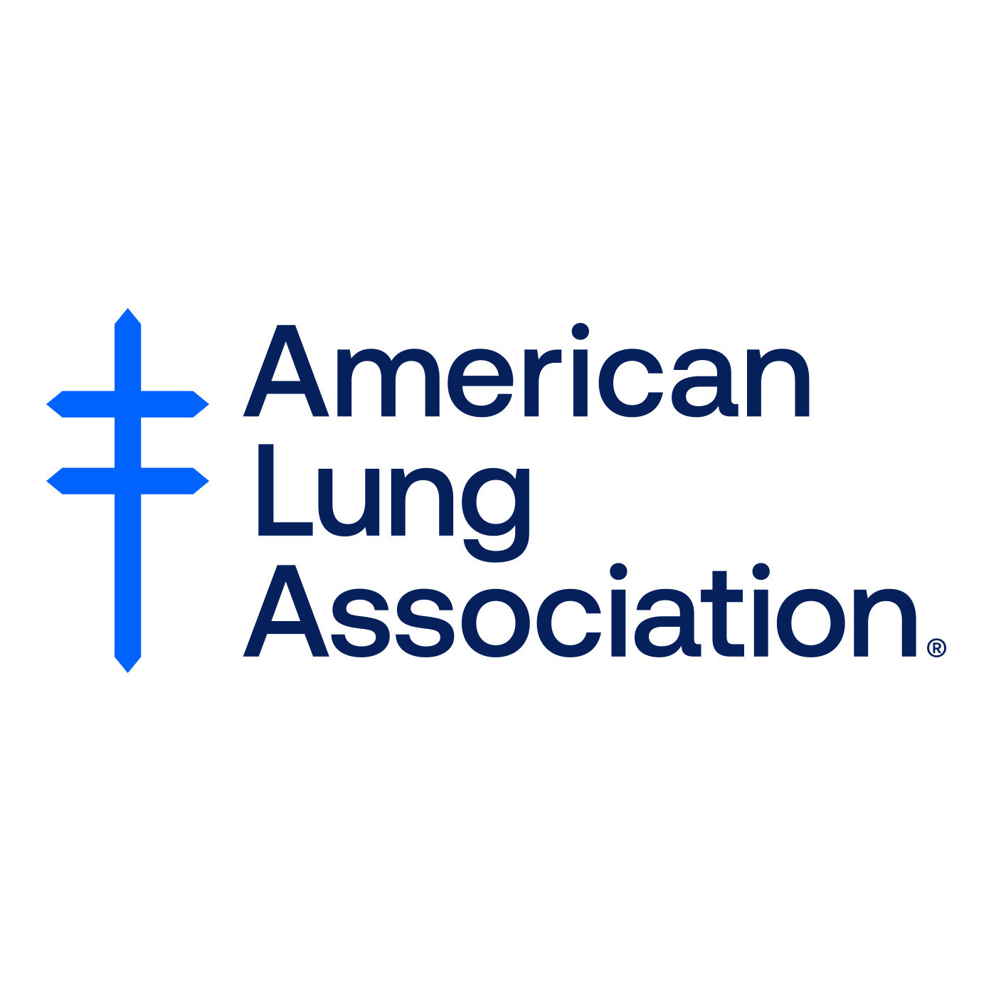 American Lung Association logo with blue vertical line crossed by two horizontal lines