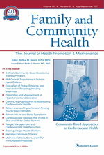 family and community health journal cover
