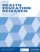 Health Education Research journal cover