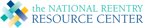 National Reentry Resource Center logo with yellow, teal, and black interwoven rectangles