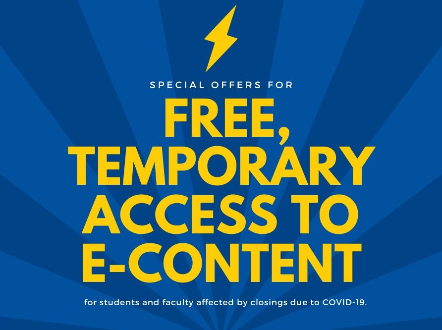 Free temporary access to e-content