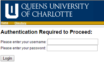Screenshot of authentication window asking for username and password