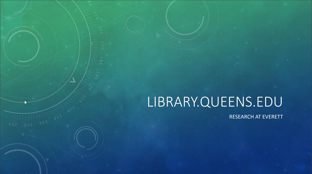library.queens.edu - Research at Everett Library