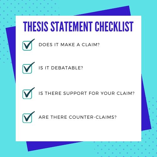 Thesis Statement Checklist