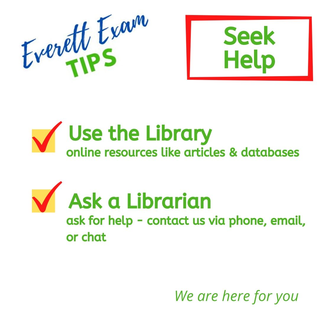 Seek Help from the library