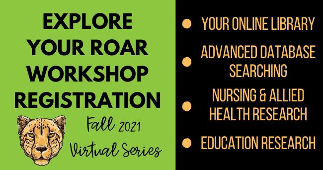 Explore Your Roar Virtual Workshop Registration