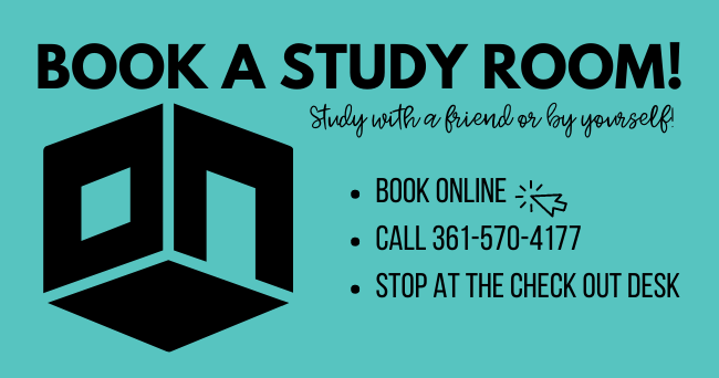 Book a study room online or by calling 3615704177