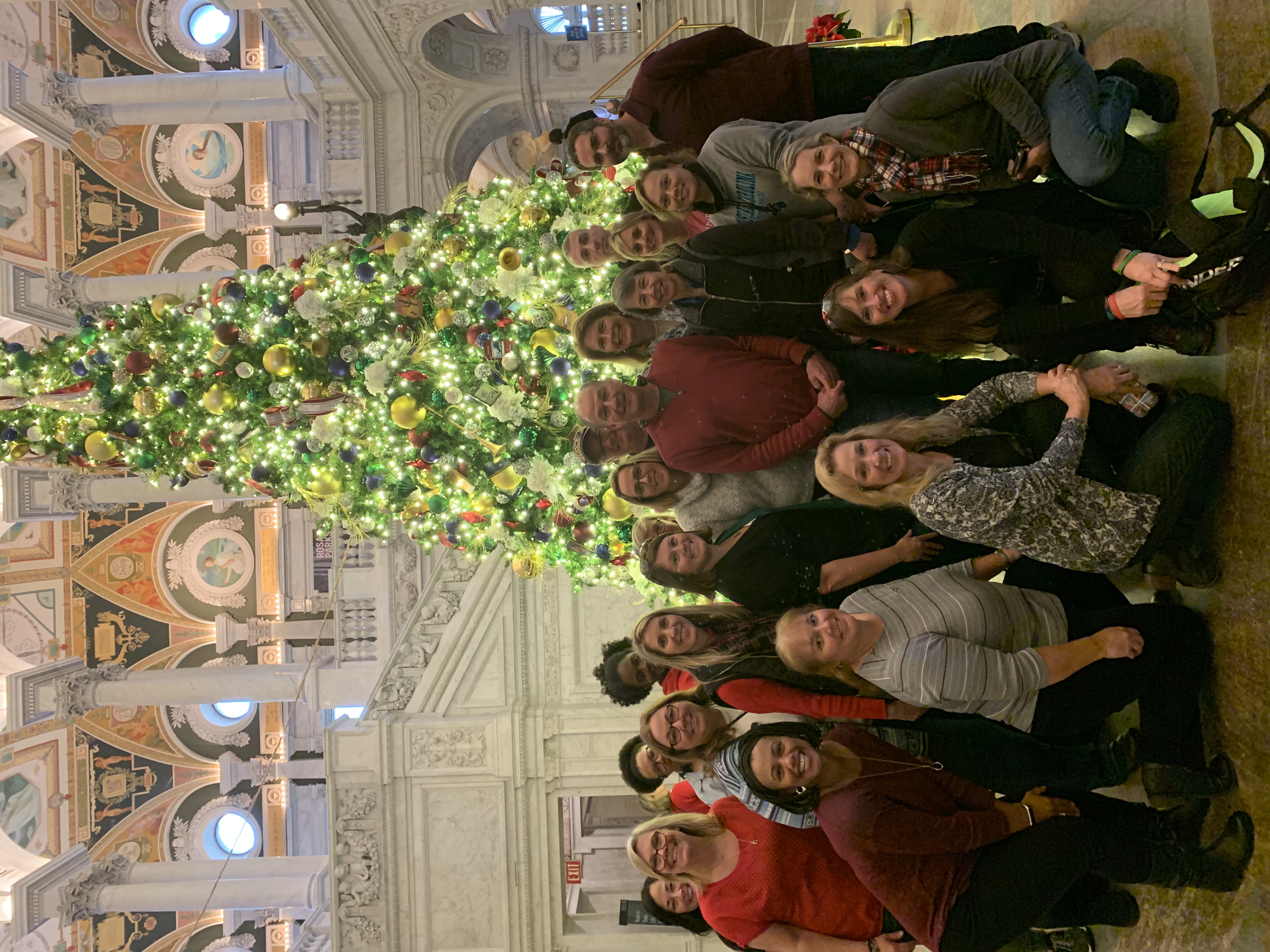 Calvert County Librarians at the Christmas Tree at the Library of Congress