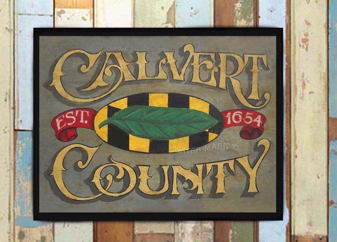 Calvert County Sign