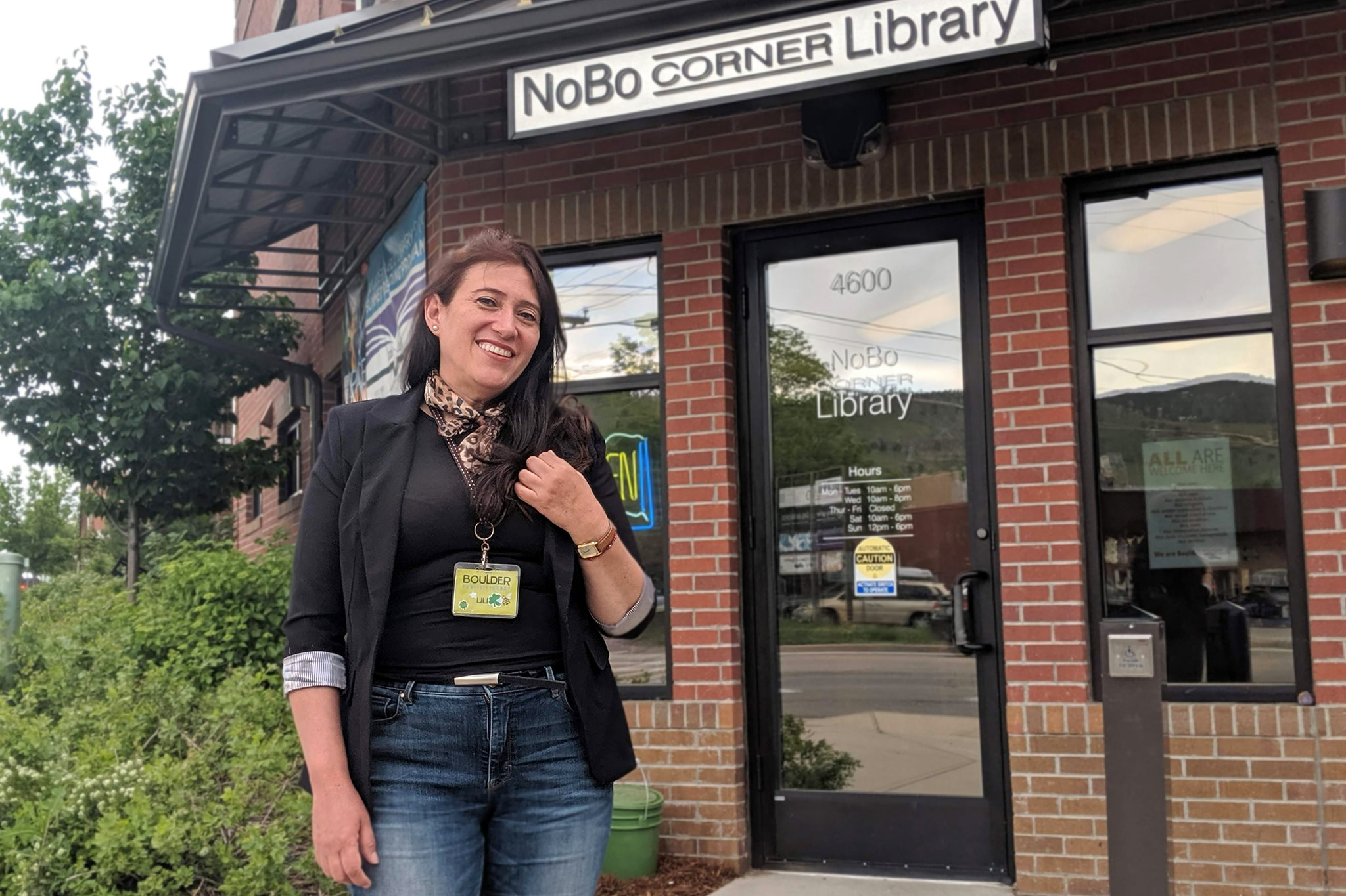staff and NoBo Corner Library