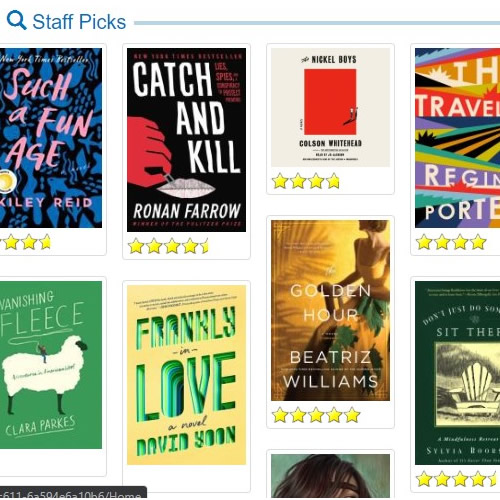staff picks in the catalog