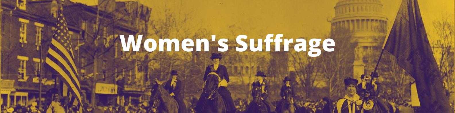 women's suffrage - banner