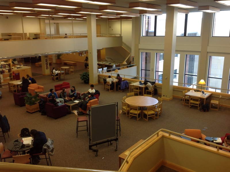 image of people studying in the Libe East Wing