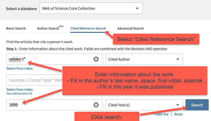 screenshot of cited reference search example