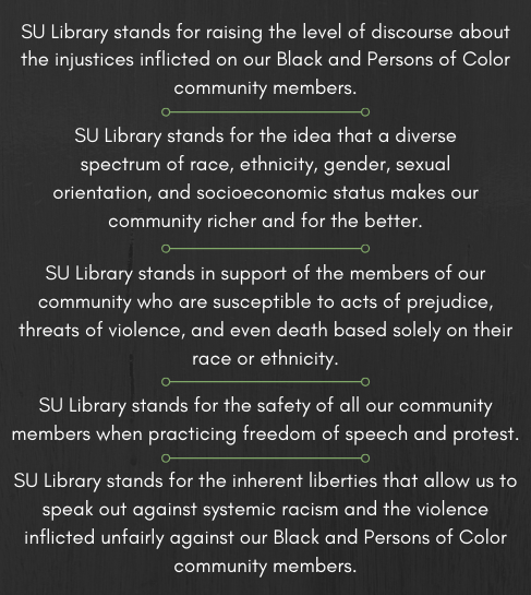 SU Library BLM statement