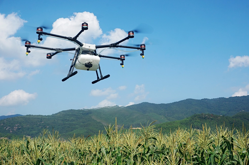 The Agras MG-1 agriculture drone