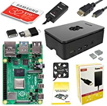 Image of Raspberry Pi Kit: micro computer, fan, usb cable, memory card, wifi adapter.