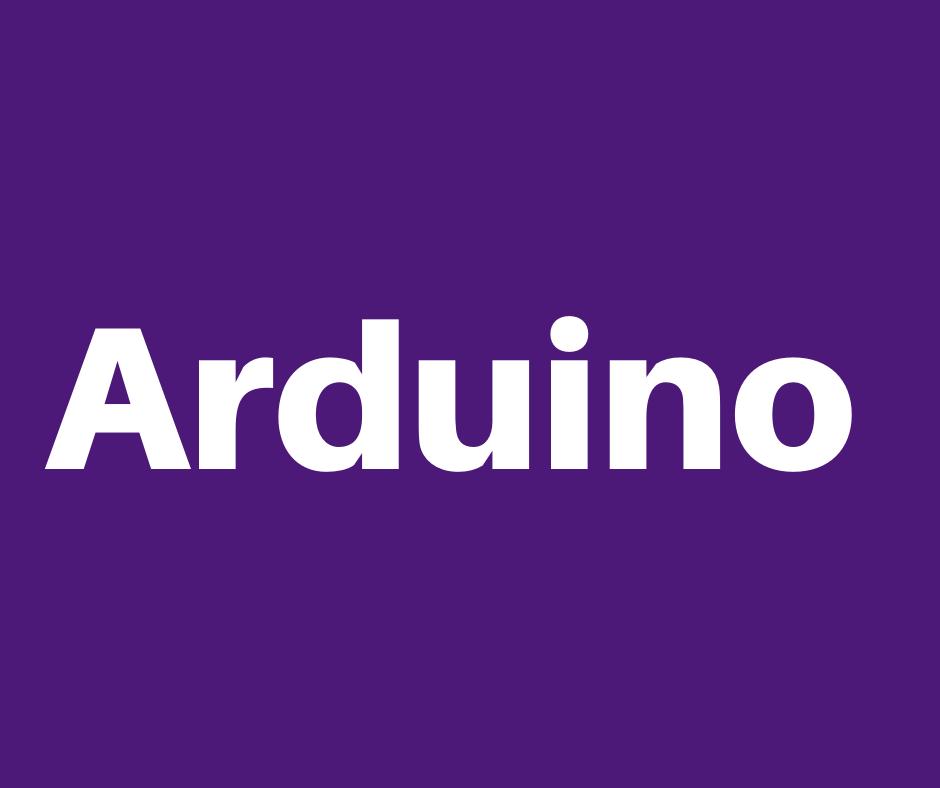 Purple Header Image that reads Arduino.