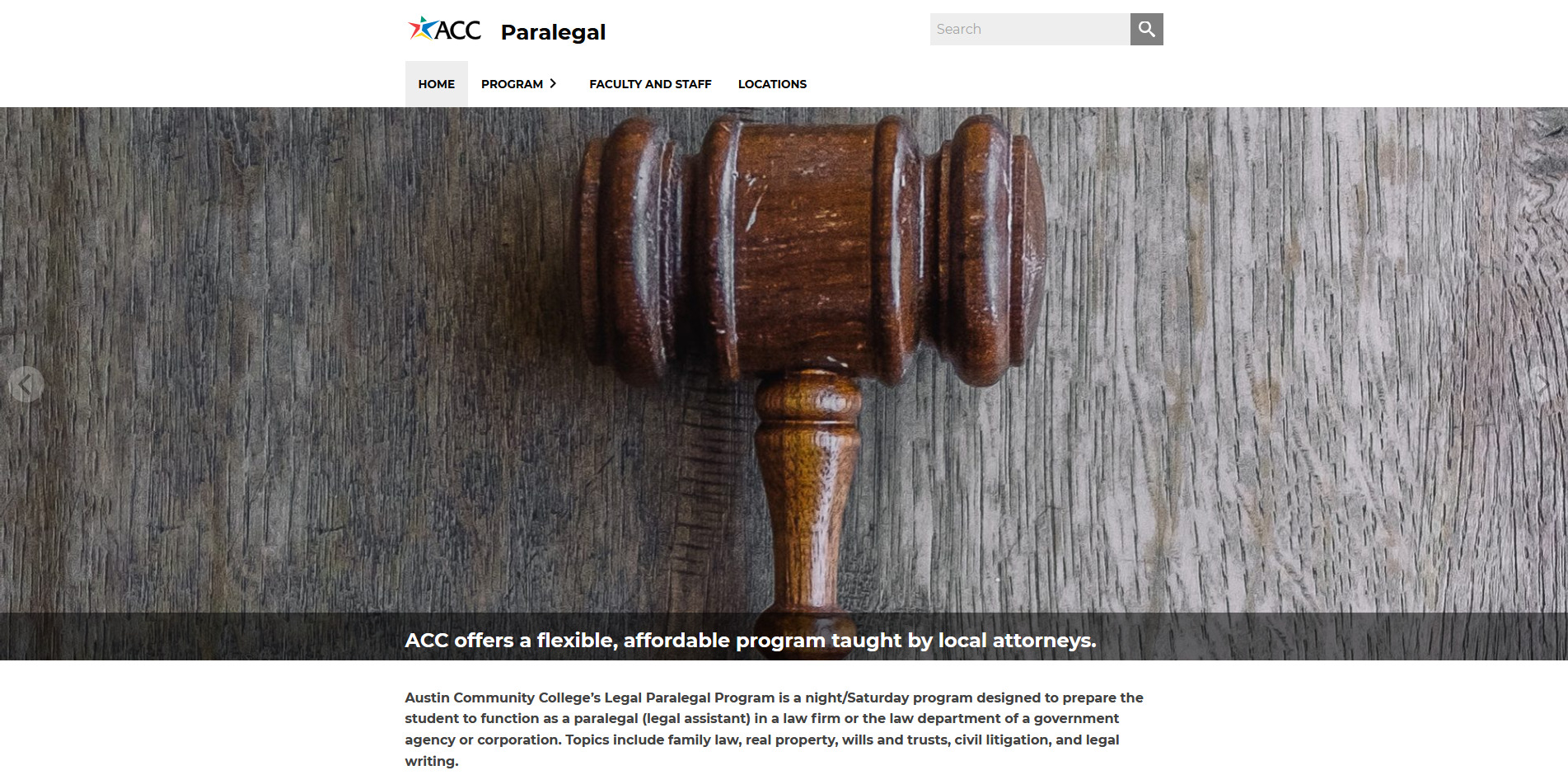 Paralegal Program Website